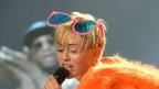 Miley Cyrus durante su concierto en Monterrey