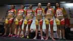 """""""Son los colores de los patrocinadores; no hay nada de escándalo"""", defendieron su uniforme las ciclistas."""