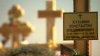 Túmulo de um soldado russo supostamente morto na fronteira com a Ucrânia / Crédito: BBC