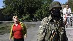 Пророссийский боевик под Донецком