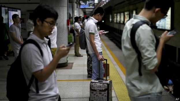 中國年青的網民看手機