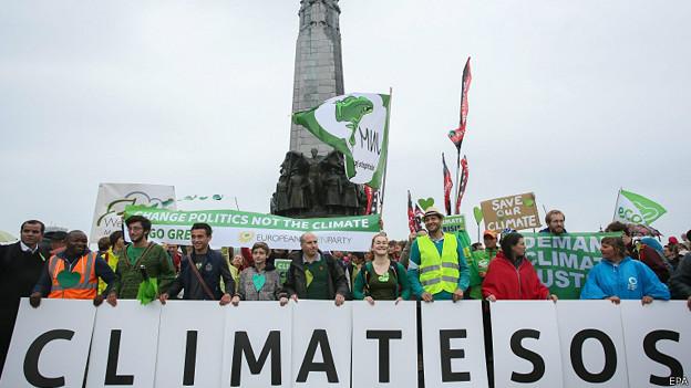 Marcha en Bruselas