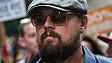 Leonardo DiCaprio en la marcha de Nueva York