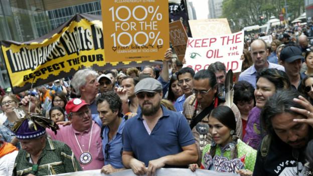 Leonardo DiCaprio e Mark Ruffalo em Nova York   Foto: EPA