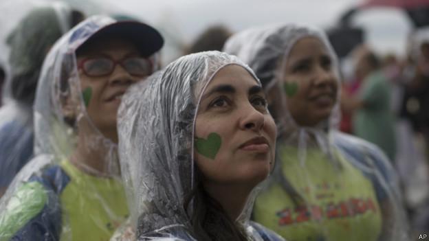 Manifestantes no Rio, dia 21 de setembro de 2014   Foto: AP