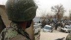 Soldado afgano en una base de EE.UU. en Kandahar, Afganistán, en marzo de 2011.