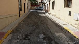 Calle sin asfaltar