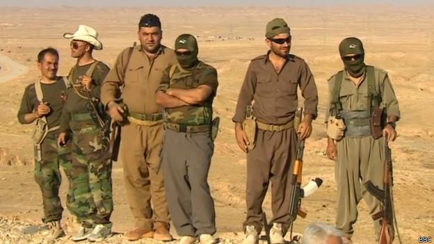 Milicianos en la frontera