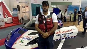 Zaid Al Mamari, paramédico con los Servicios de Ambulancias de la Corporación de Dubai