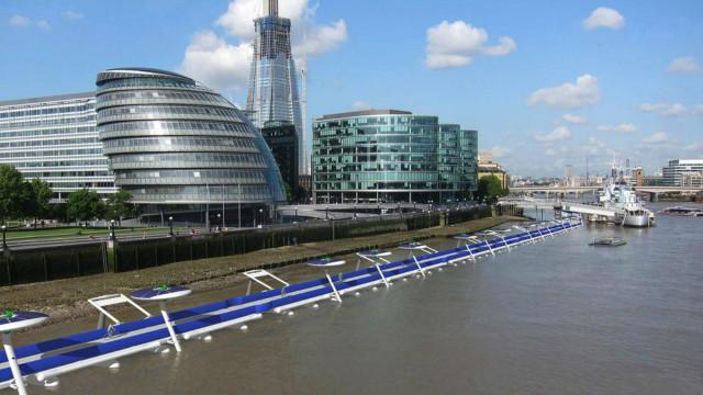 DERGİ - Londra Thames Nehri'ne yüzen bisiklet yolu - BBCTurkce.com