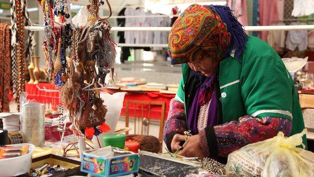 Comerciante en Turkmenistán