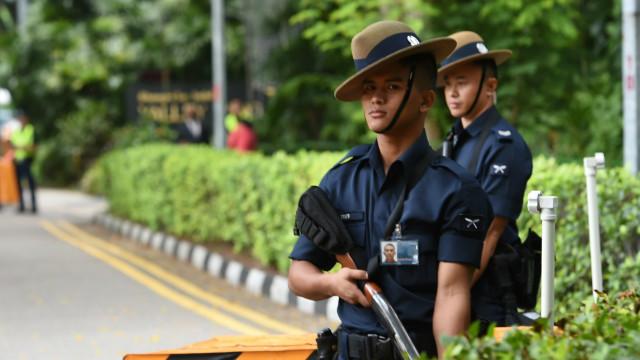 Polisi Singapura yang selalu siaga