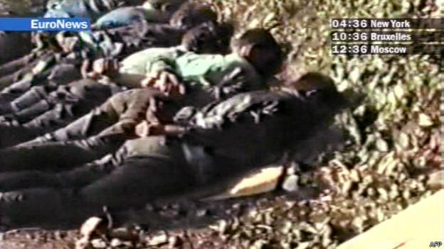 Imagen de television de víctimas