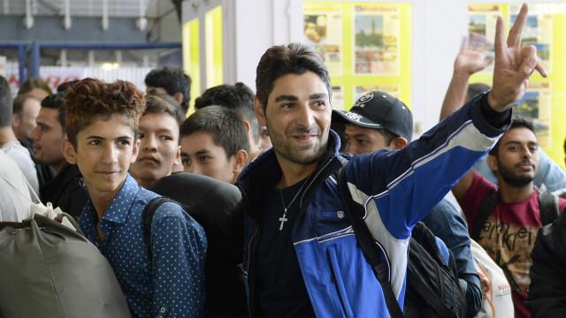 Refugiados al llegar a Alemania