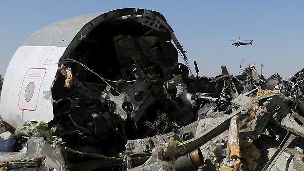 Avión ruso derribado en el Sinaí.