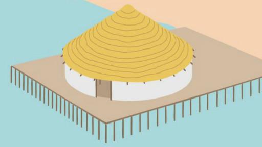 Casa circular de la Edad de Bronce