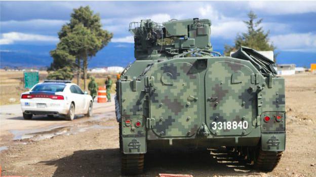 Tanques en El Altiplano