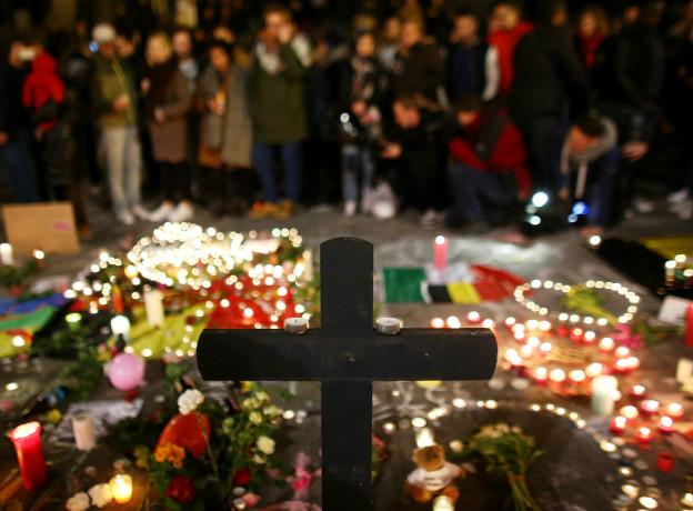 Homenaje a las víctimas de Bruselas