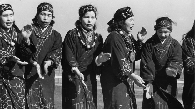 Japonesas residentes de las islas Kuriles