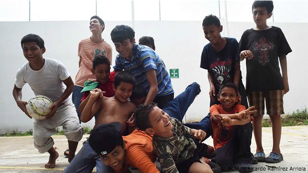 Niños migrantes centroamericanos