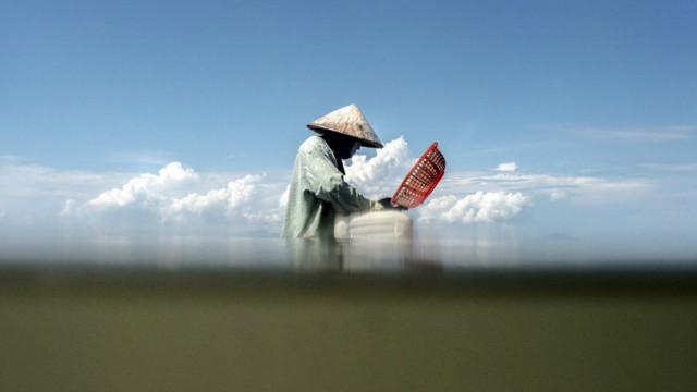 صيد الروبيان في كمبوديا