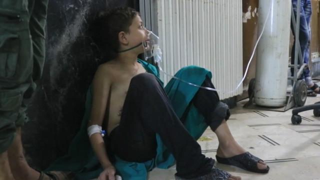 د حلب جګړه کې د کلورين غازو بريد