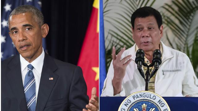 """د فليپین ولسمشر بارک اوباما """"حرمونی"""" وباله"""