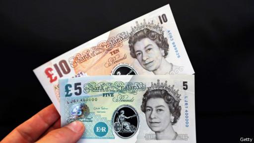 Billetes de libras esterlinas
