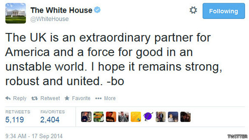 Tuit de Barack Obama