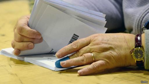 Conteo de votos en Edimburgo
