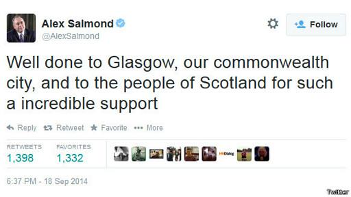 Alex Salmond tuit