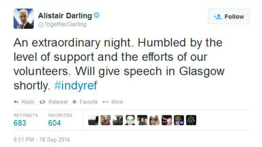 Tuit de Alistair Darling